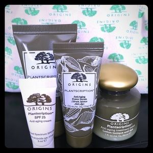 🌿Origins Plantscription Sample Kit & Cosmetic Bag